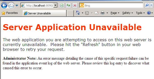 server-application-unavailable