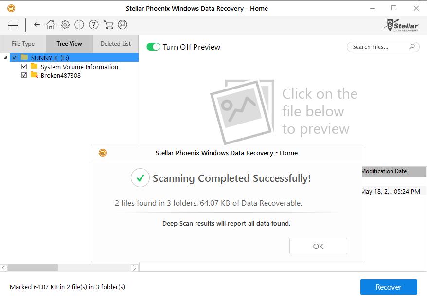 8 deep scan result after full format